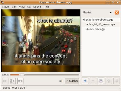 Totem: reproductor multimedia de GNOME